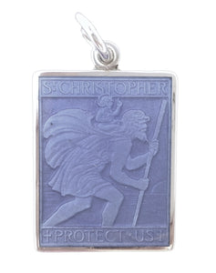 PALMER JEWELERS Saint Christopher Medal in Purple (Medium Size -- Rare!)