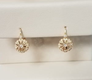 WALLACH JEWELRY DESIGNS Beverley K 14k Gold and Diamond Earrings