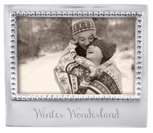"PINK ON PALMER Mariposa ""Winter Wonderland"" Beaded 4"" x 6"" Frame"