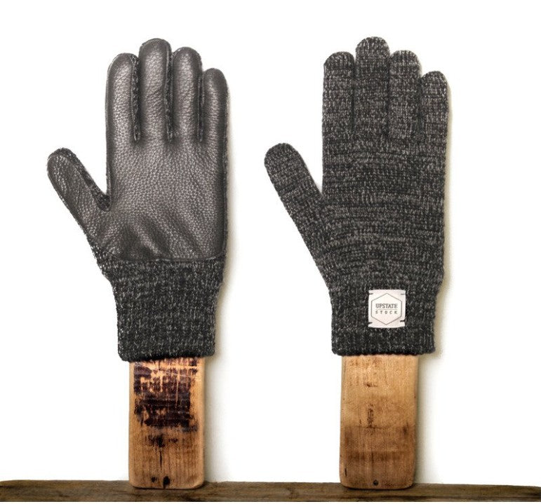 VILLAGE MERCANTILE Men's Ragg Wool and Deerskin Gloves