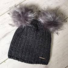 186d012c22a4d MANCINO TAILORS Rino   Pelle Double Pom Pom Winter Hat – Beyond ...