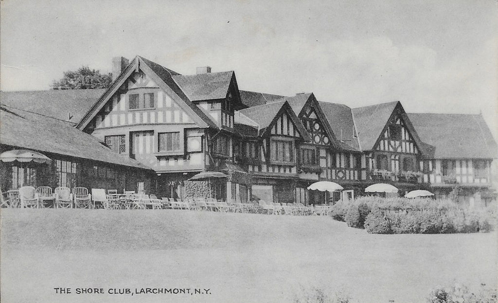 CIRCLE 7 Custom Framed Larchmont Original Postcard 1944 The Shore Club