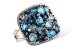 WALLACH JEWELRY DESIGNS Allison-Kaufman Diamond and Blue Topaz Ring