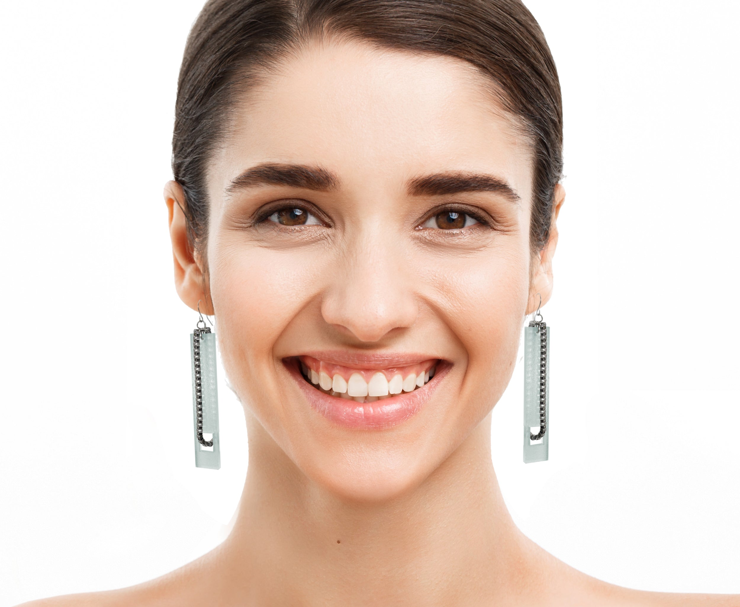 Threaded Chain Plank Earrings