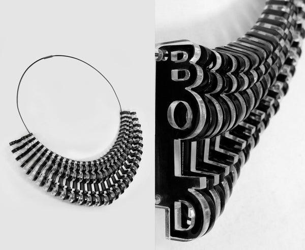 Black & Clear 'Bold' Necklace