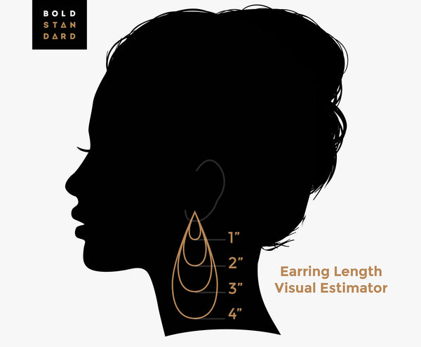 Wood Tribal Cut-Out Graphic Statement Earrings