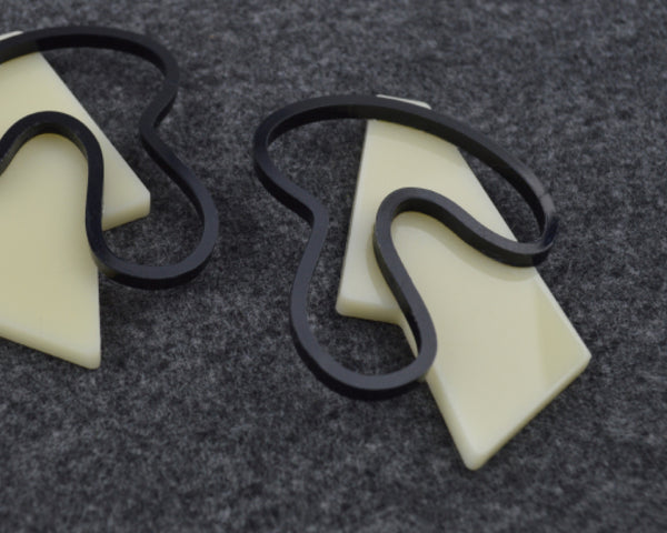 Black & Bone 'Contour Line' Earrings