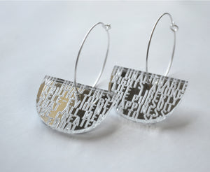 Silver Mirror American Truth Earrings