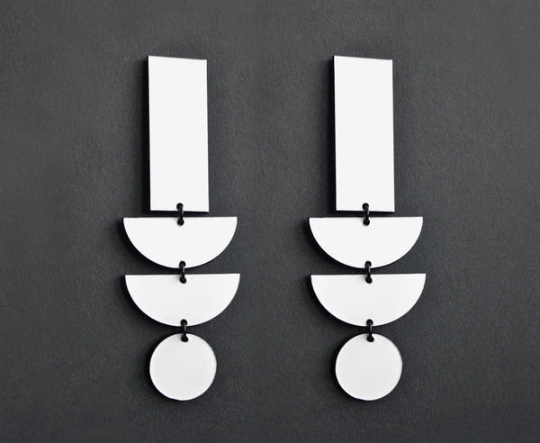 White Hot 'Geo Stack' Earrings