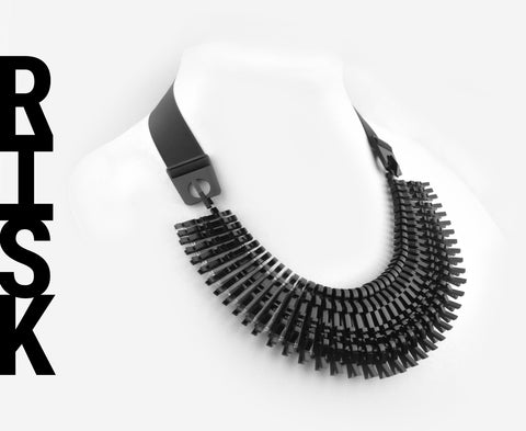 Black 'Risk' Necklace
