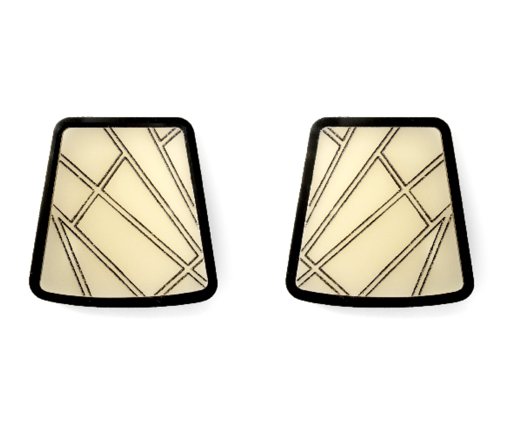 Bone Etched Trapezoid Earrings