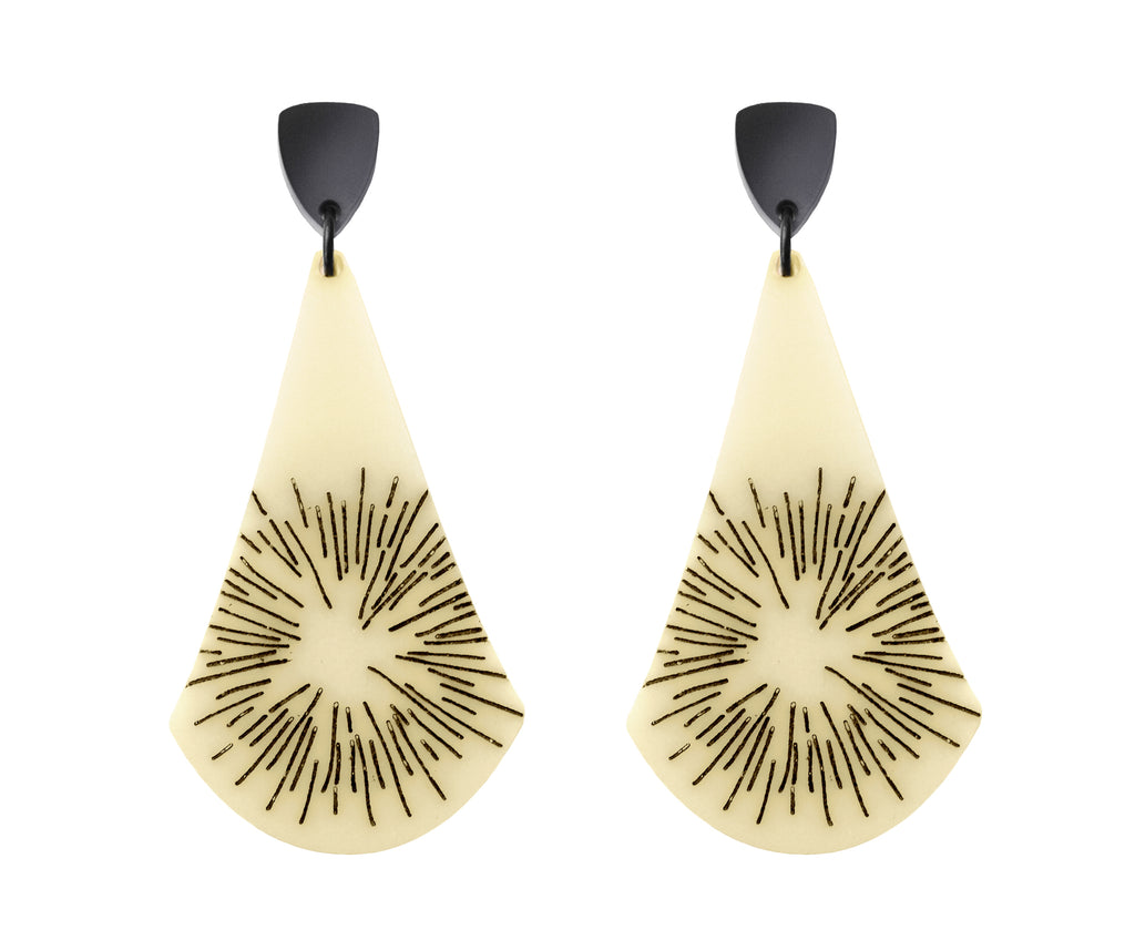 Faux Bone Sun Ray Earrings
