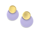 Pastel Lavender Floating Circles Earrings