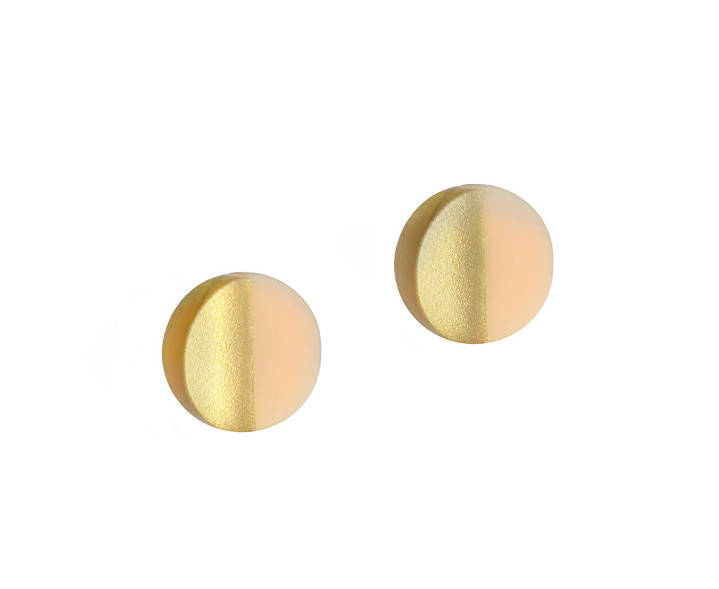 Split Circles Earring Studs • Peachy