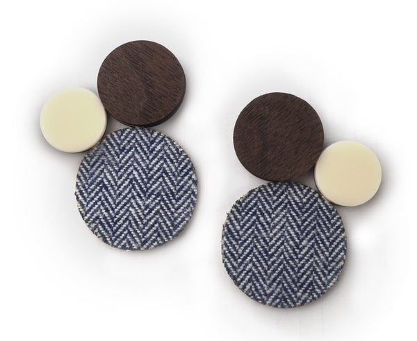 Herringbone 'Fab Trio' Earrings