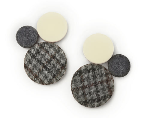 Bone & Grey 'Fab Trio' Earrings