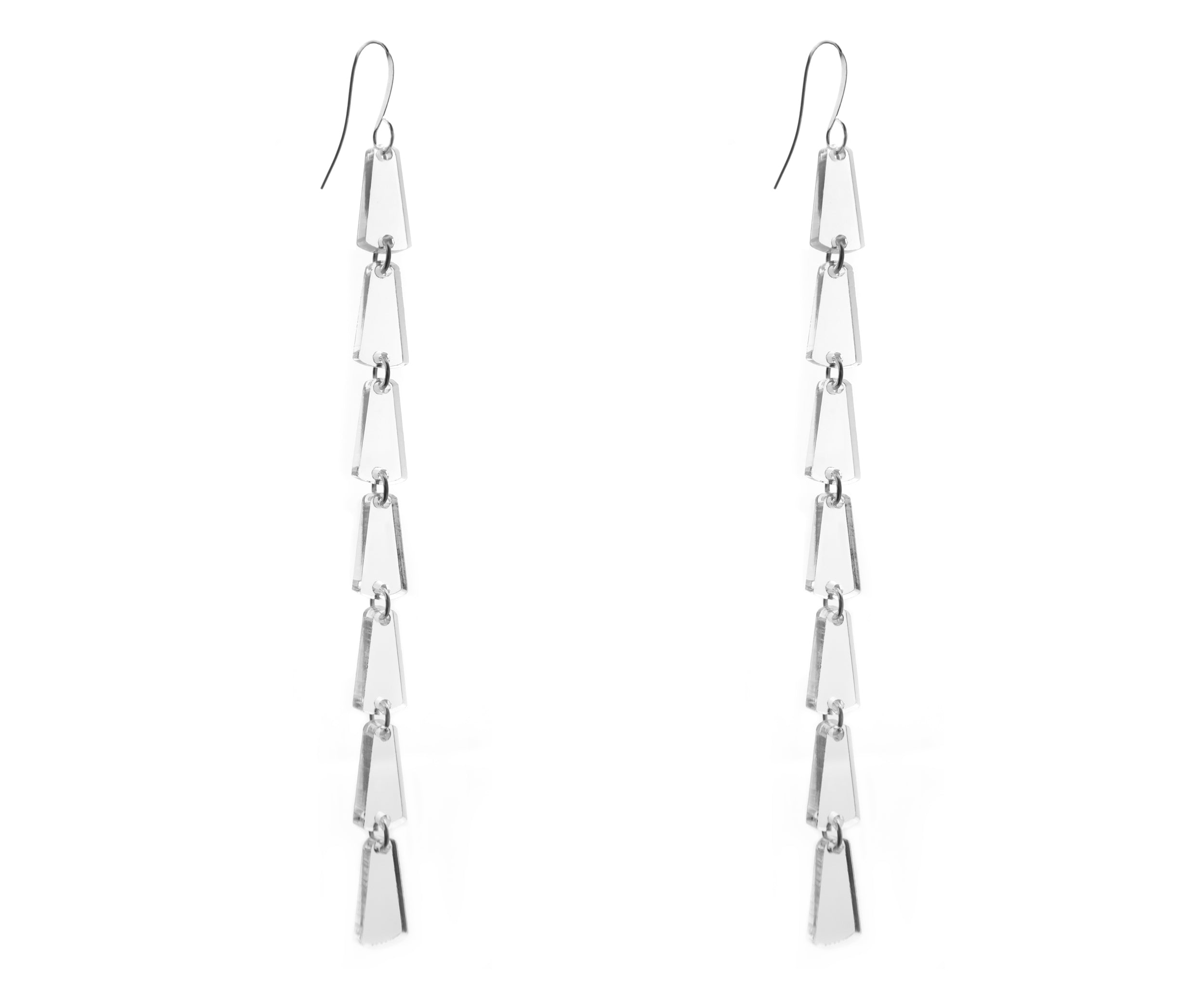 Clear Bell Drop Duster Earrings