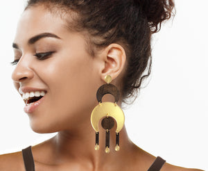 Featherweight Crescent Statement Earrings