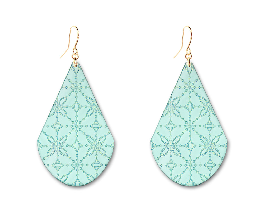 Etched 'Glass' Earrings