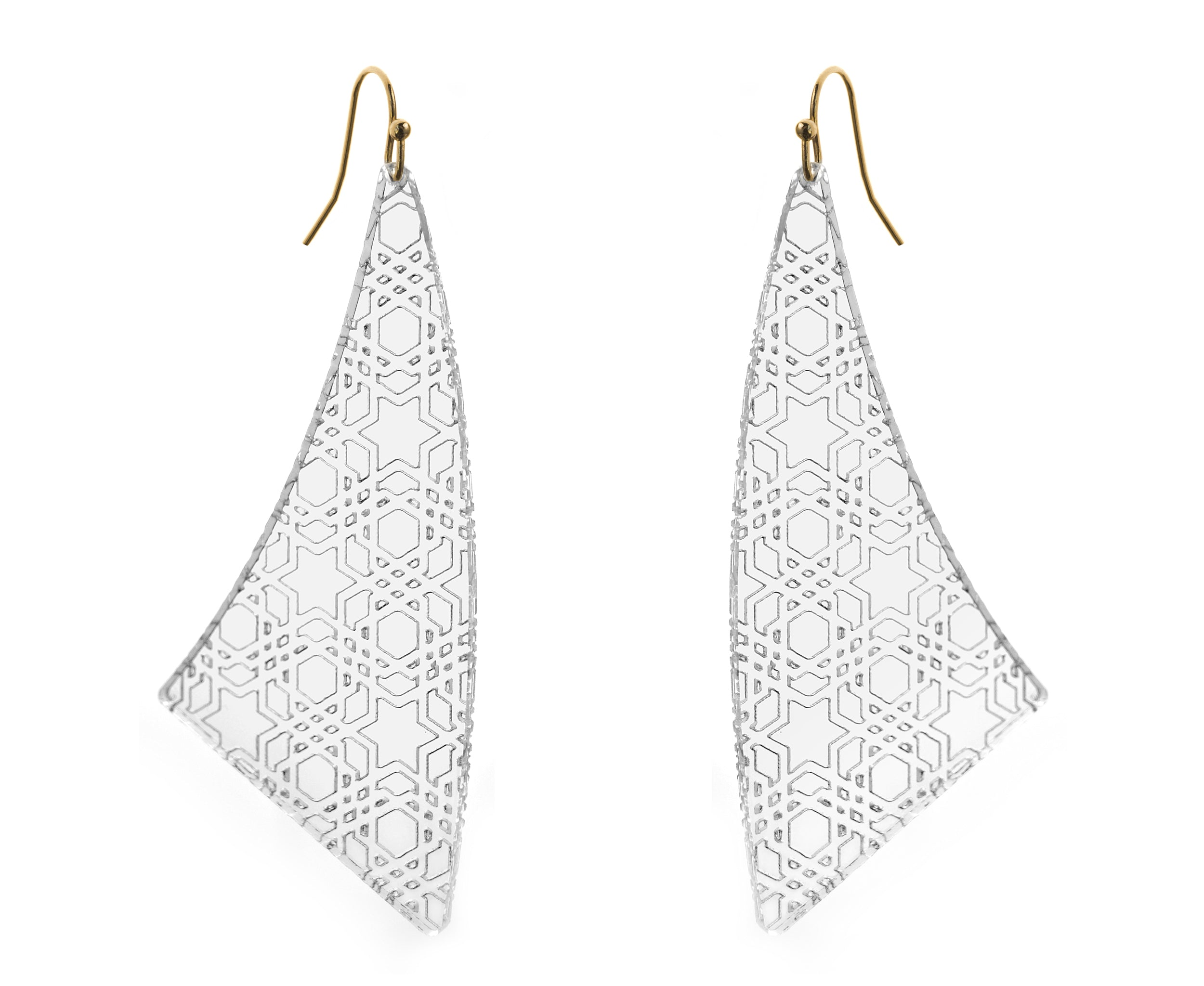 Etched Geometric Pattern Earrings