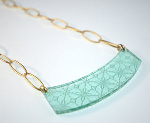 Etched 'Glass' Necklace