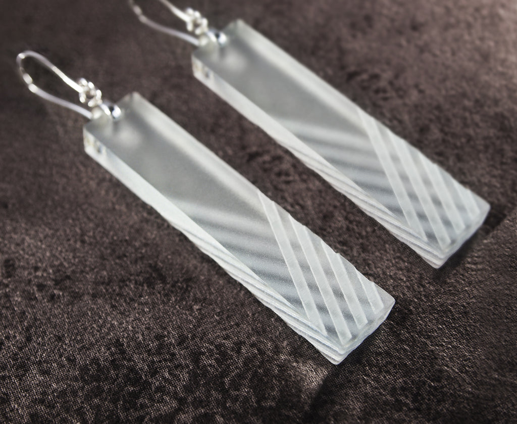 Etched Crosshatch Earrings