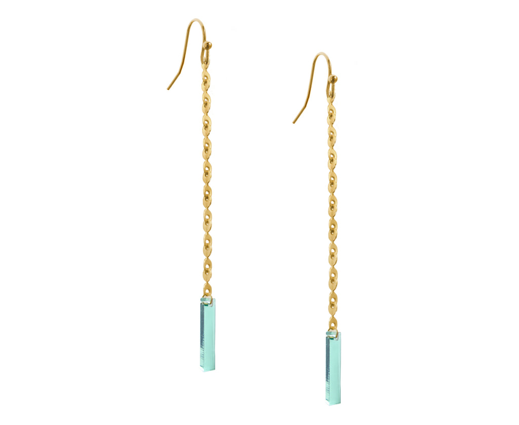 Eyelet Chain & Plank Earrings