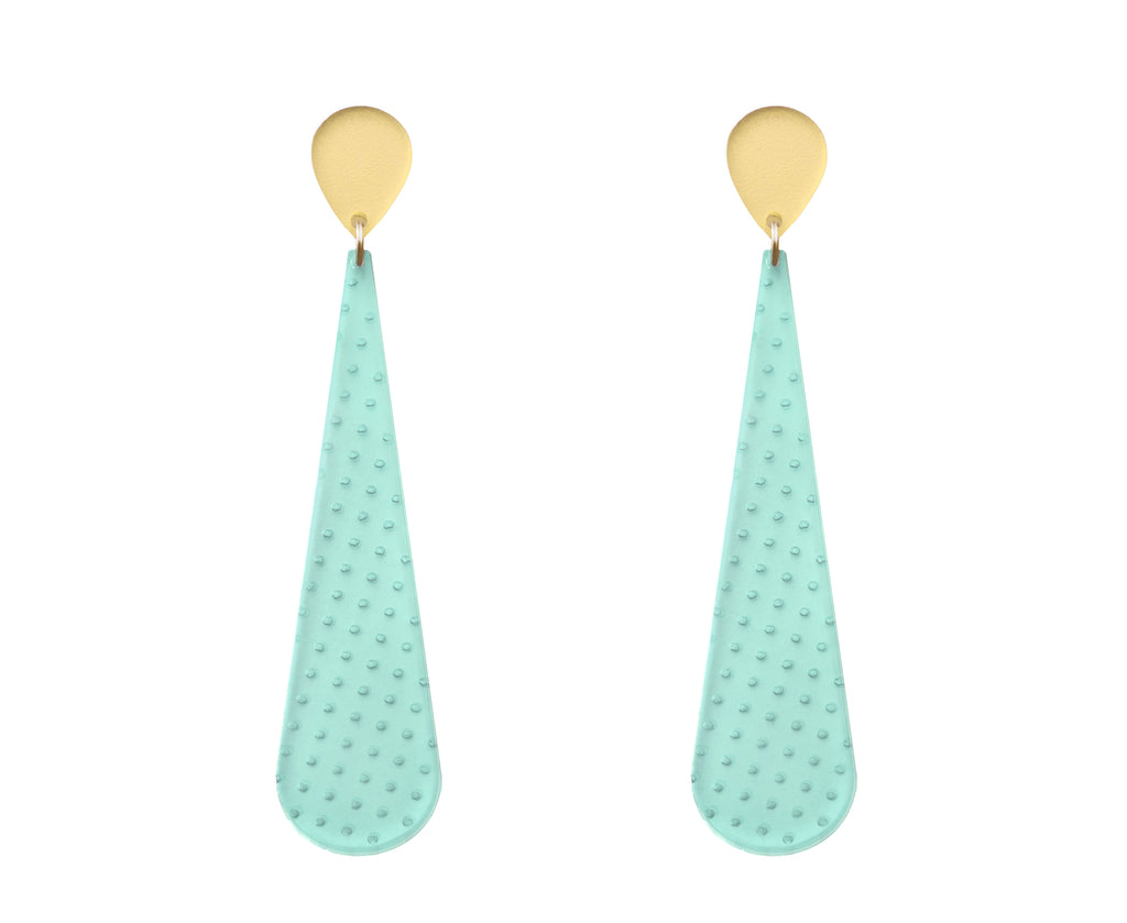 Etched 'Glass' Polka Dot Earrings