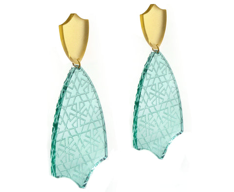 Etched 'Glass' Tulip Earrings