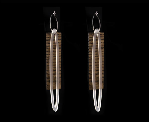Wood & Frost 'Ellipse & Plank' Earrings