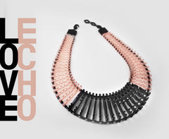 Blush & Black 'Love Echo' Necklace