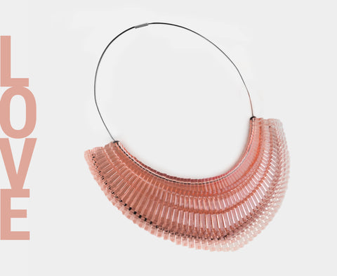 'Love' Necklace - Blush