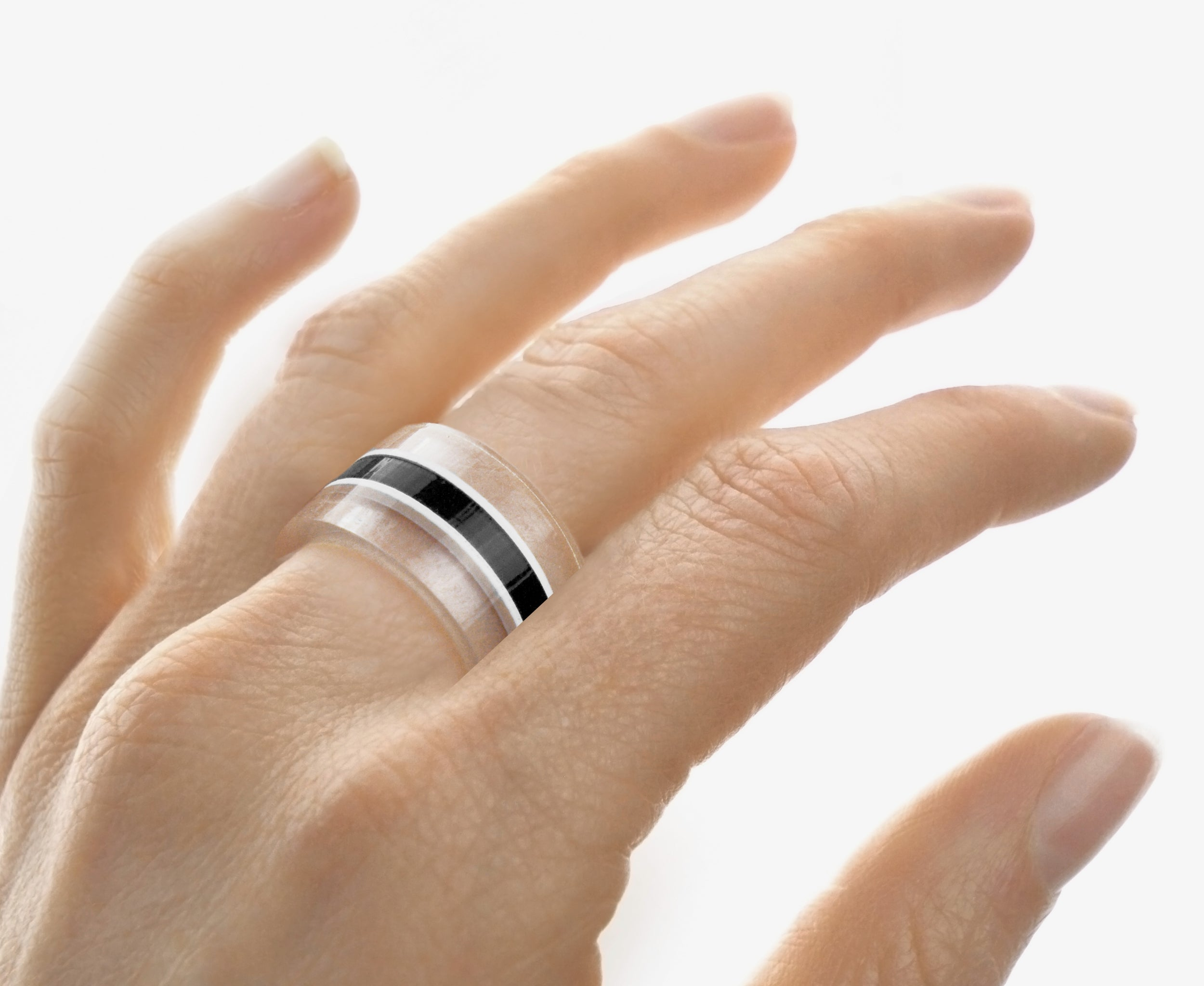 Black Belt Stackable Ring