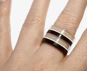 Piano Mod Stackable Ring