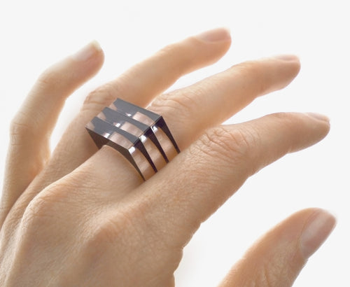 Black 'Disappearing Act' Stackable Ring