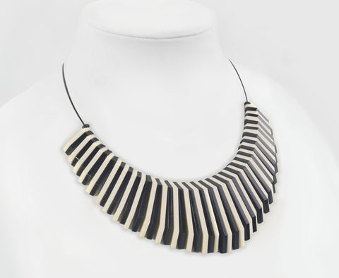 Black & Bone Shard Cable Necklace