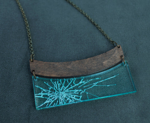 Glass Ceiling - Shattered Box Necklace
