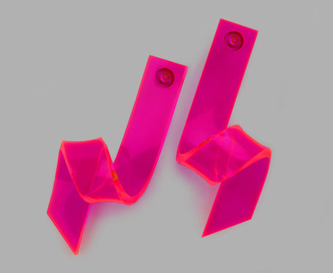 Neon Pink Barrel Wave Earrings