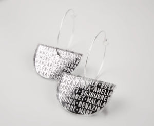 Silver Mirror Women of History Earrings III
