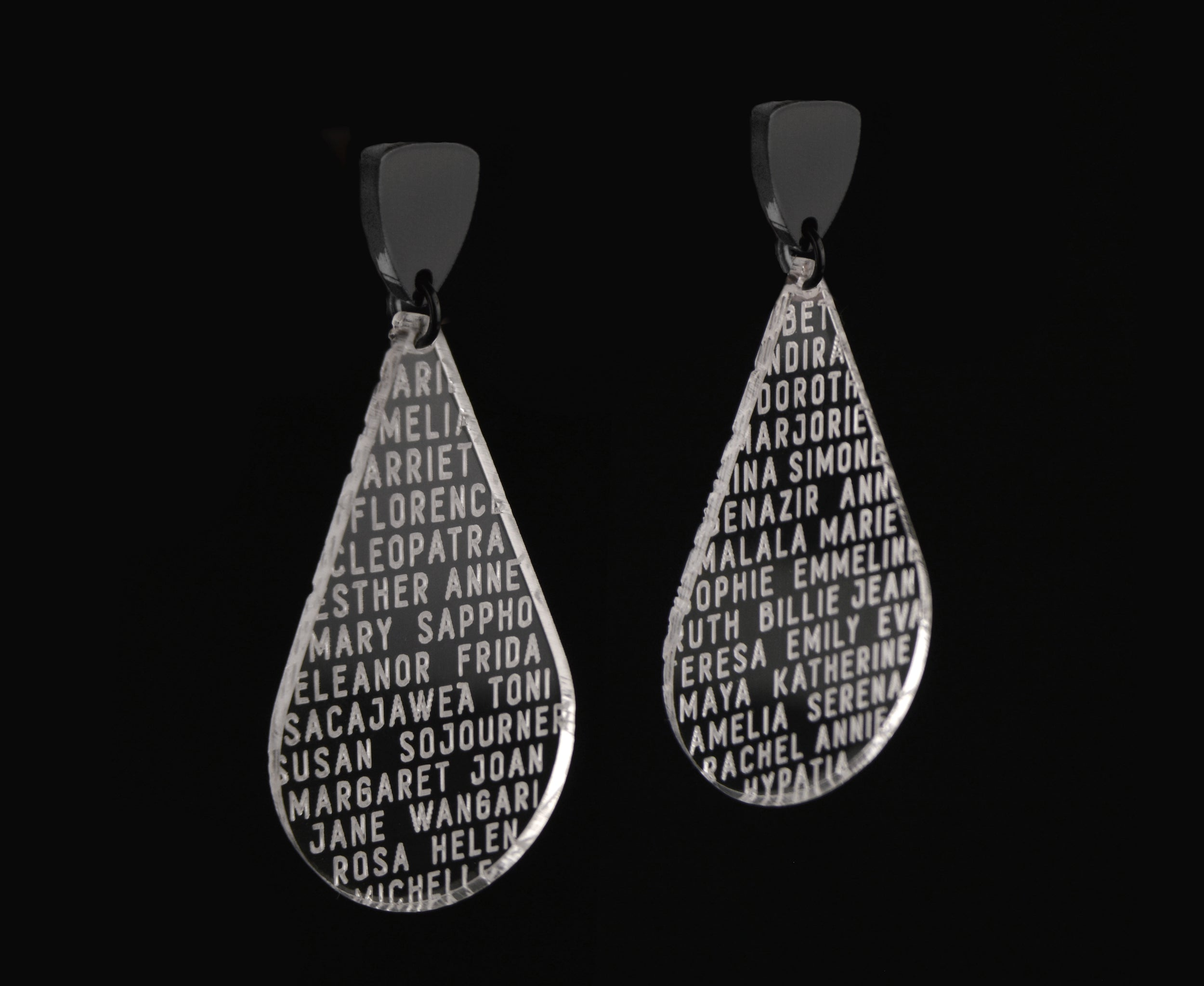 Clear Women of History Earrings II