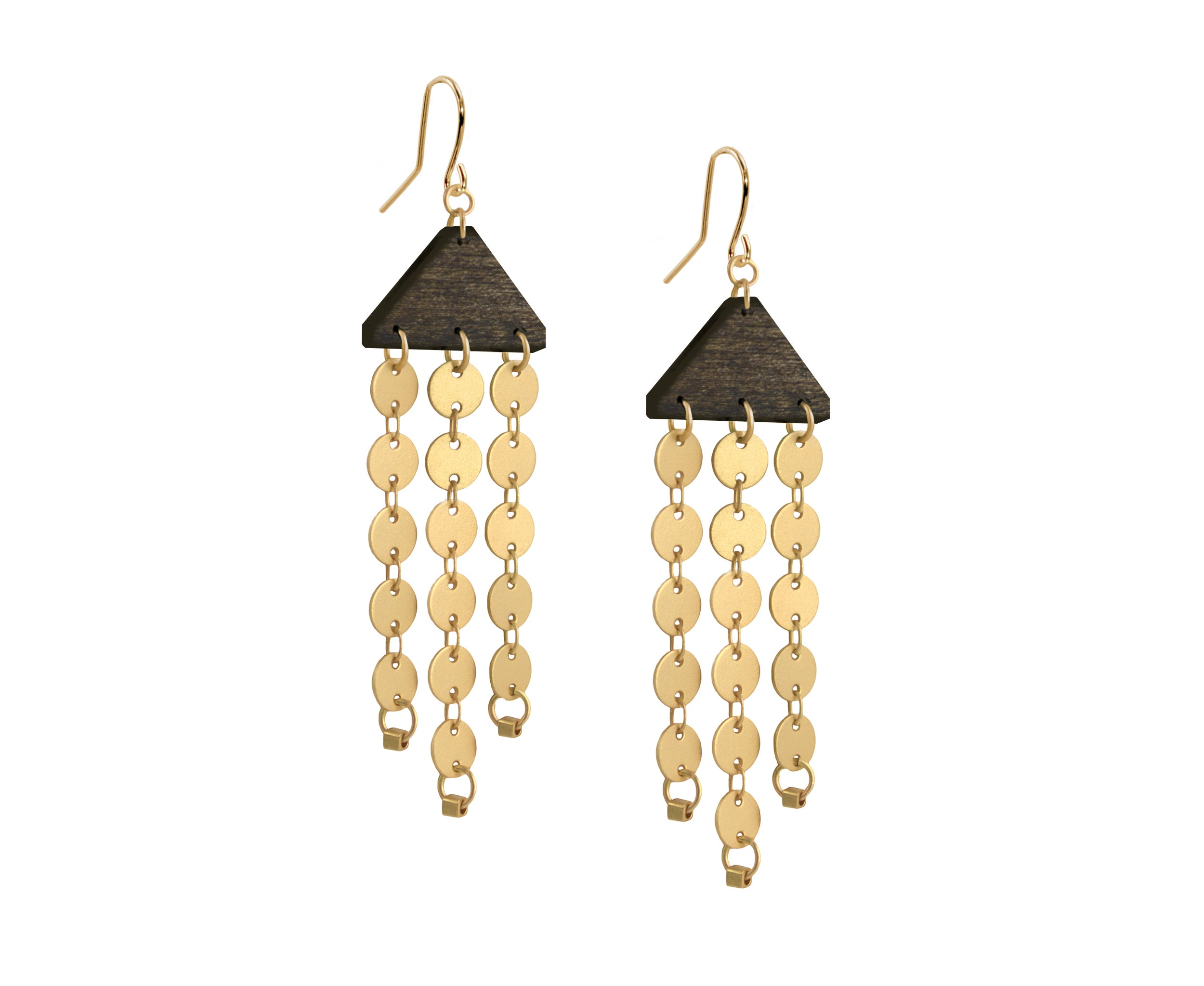 Gold Circles Chandelier Earrings