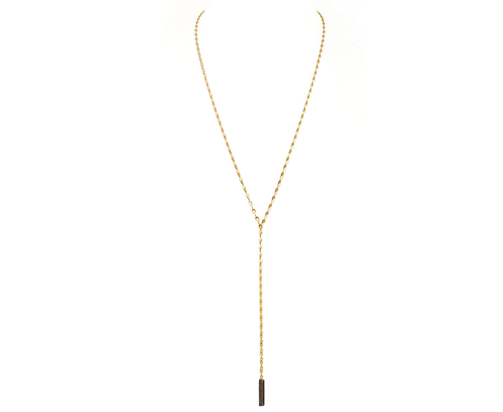 Eyelet Chain Lariat Necklace