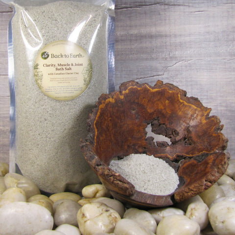 Back to Earth - Clarity, Muscle & Joint Bath Salts with Canadian Glacial Clay
