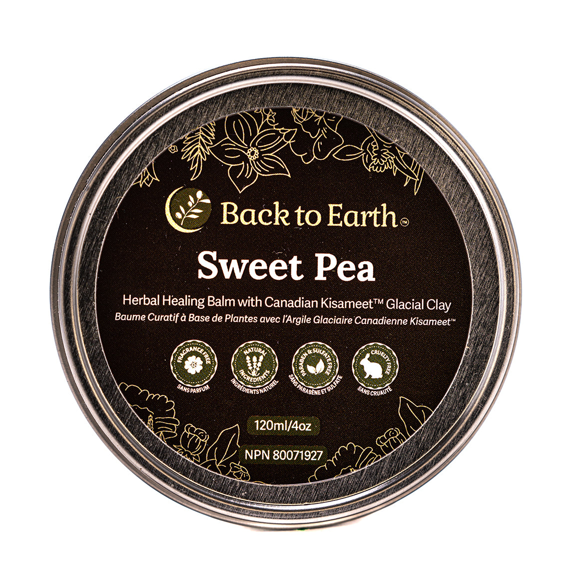 Sweet Pea Herbal Baby Balm with Kisolite® BMP - 120ml/4oz