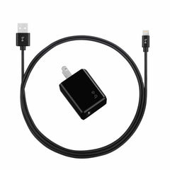 Blu Element Wall Charger Single 2.4A w/Lightning Cable Black
