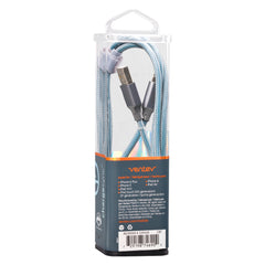 Ventev Charge/Sync Metallic Cable Lightning 4ft Blue