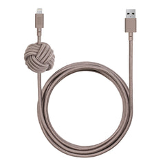 Native Union Night Cable with Weighted Knot Lightning 10ft Taupe