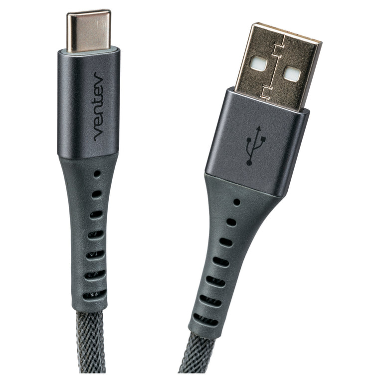 Ventev Charge/Sync Alloy Cable USB-C 10ft Gray