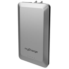 myCharge Home&Go Plus Powerbank with Wall Prongs 8000mAh Grey