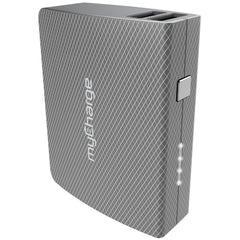 myCharge Amp Plus Powerbank with Recharge Cable 4400mAh Grey Geo